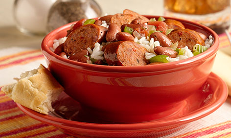 Louisiana Rice and Beans with Spicy ArtisanSausage