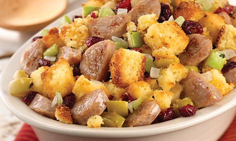 Cornbread Stuffing with Sweet Apple Chicken Sausage